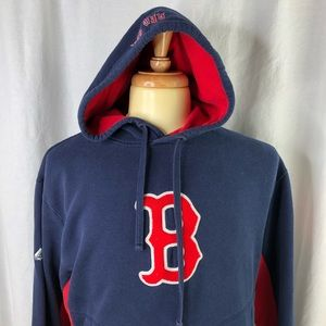 Majestic Mens Boston Red Sox XL Hoodie faded tag